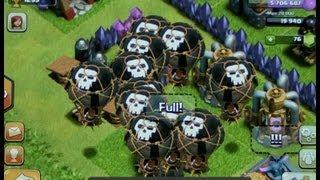 getlinkyoutube.com-Clash of clans lvl 6 rage balloon attack bonbee style!