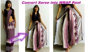 Convert Saree into Wrap Pant/ Diy Wrap in 10 MInutes