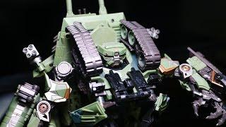 getlinkyoutube.com-Transformers Movie 1 Leader Class Brawl  Ko God-02 Tank Warrior Vehicle Robot Car Toys