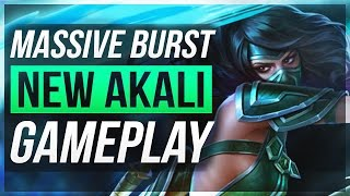 getlinkyoutube.com-MASSIVE BURST DMG! | Akali Rework Gameplay - League of Legends