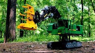 getlinkyoutube.com-LEGO Technic Feller-Buncher