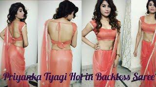 Priyanka Tyagi Hot in Backless Saree
