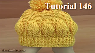 getlinkyoutube.com-How to Crochet Beanie  Hat  With 3D Leaves  Tutorial 146