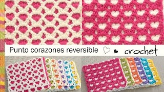 getlinkyoutube.com-Punto corazones reversible o AMOR ETERNO 💗 tejido a crochet!
