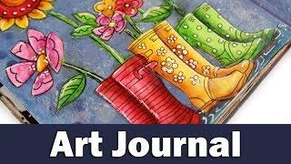 getlinkyoutube.com-Art journal | rainy day