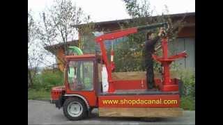 getlinkyoutube.com-Gru manuale 900 kg - Installazione su furgone pickup motoagricole - shopdacanal.com