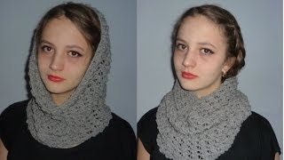 getlinkyoutube.com-How to crochet a Round Scarf Tutorial