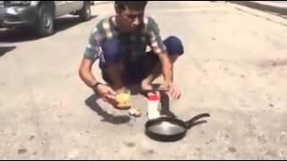 getlinkyoutube.com-عراقي يقلي البيض بحرارة الشمس تحشيش عراقي 2015