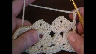 getlinkyoutube.com-Simple Lacy Shell stitch