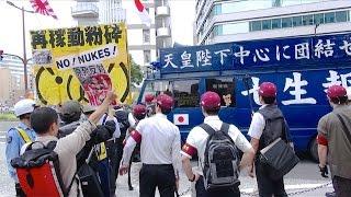 getlinkyoutube.com-対峙する右翼街宣車と反原発右派市民 - 2015.6.7 福岡市