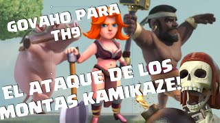 getlinkyoutube.com-100% Con Ataque GoVaHo en TH9! Montapuercos Kamikaze!! (Ep. 5 Tutoriales Valquirias)