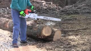 getlinkyoutube.com-Stihl MS661 Chainsaw Very First Cuts