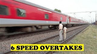 getlinkyoutube.com-Highest Number Of Overtakes -  1 Train At Same Station