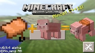 getlinkyoutube.com-Minecraft Pocket Edition 0.9.4: ¿Se Puede Montar Cerdos?