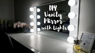 getlinkyoutube.com-DIY VANITY MIRROR WITH LIGHTS [UNDER $100!!!] || SimplySandra