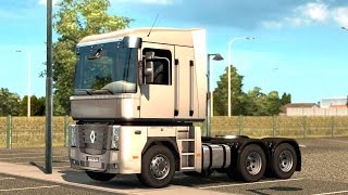 getlinkyoutube.com-Euro Truck Simulator 2 - Renault Magnum Trailer Pick Up and Ferry Boarding
