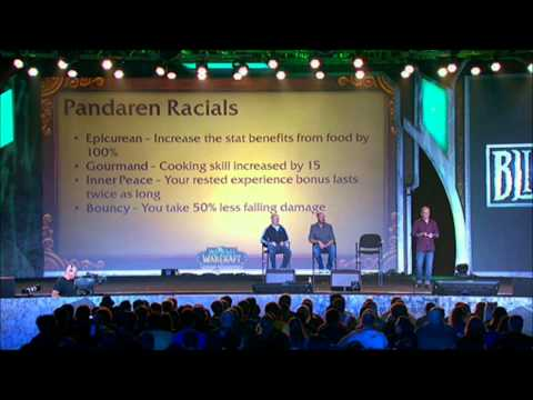 BlizzCon 2011 - World Of Warcraft: Mists of Pandaria Preview Panel (Full)