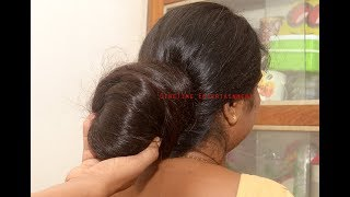 Big Bun Play with Floor Length Super Thick Hair