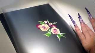 getlinkyoutube.com-One Stroke Rose Anleitung - Primadonna Nails - Carmen Gulino