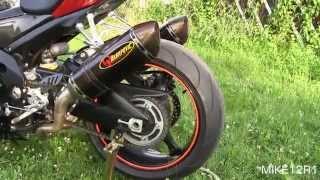 getlinkyoutube.com-Suzuki GSXR 1000 Akrapovic Full Exhaust Sound Test - Gixxer 1000 Engine Start, Revving & Walkaround