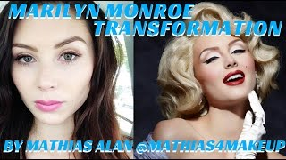 getlinkyoutube.com-MARILYN MONROE TRANSFORMATION PRO MAKEUP VIDEO TUTORIAL- mathias4makeup