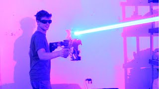 getlinkyoutube.com-My Homemade 40W LASER SHOTGUN!!!!!