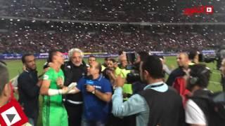 getlinkyoutube.com-فيديو من داخل الملعب لحظة بكاء الحضري بعد مباراة مصر وغانا