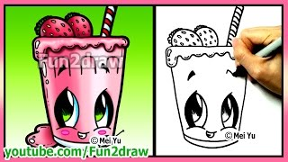 getlinkyoutube.com-How to Draw Easy Things - Fruit Smoothie + Funny Extra Drawing - Fun2draw Food Drink