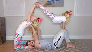 HILARIOUS FAMILY YOGA CHALLENGE!!! (Trying impossible poses) width=