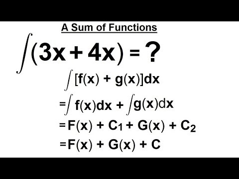 Calculus 2: How Do You Integrate? (7 of 300) A Sum of 2 Functions