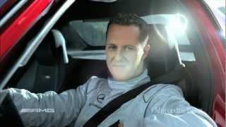 getlinkyoutube.com-Mercedes SLS AMG трюк Михаэля Шумахера.