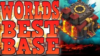 getlinkyoutube.com-CLASH OF CLANS - WORLDS BEST TOWN HALL 10 TROPHY BASE / TH10 WAR BASE!+TOWN HALL 10 DEFENSIVE PROOF!