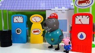 getlinkyoutube.com-Peppa Pig Garaje del Abuelo Dog Grandpa Dog Garage - Juguetes de Peppa Pig