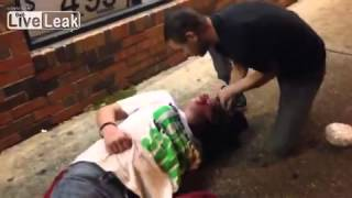 getlinkyoutube.com-More action from outside my store: Women KO left bloody and unconscious