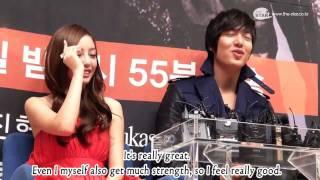 getlinkyoutube.com-[Engsub] Goo Hara Interview with Lee Minho - City Hunter Press Conference