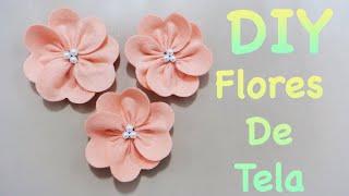 getlinkyoutube.com-FLORES | COMO HACER FLORES DE TELA FÁCIL | FLOR ELEGANTE | FLOWERS | DIY - YuureYCrafts