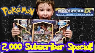 getlinkyoutube.com-Pokemon Mega Absol EX Premium Collection Opening - 2,000 Subscriber Special!