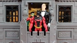 getlinkyoutube.com-Batman & Robin Gotham City Darkstorm Batcave includes Alfred DC Superhero