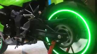 getlinkyoutube.com-Green Hyper Spectrum Motorcycle Rim Stickers