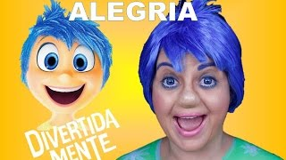 getlinkyoutube.com-INSIDE OUT MAKEUP JOY - DIVERTIDA MENTE ALEGRIA - MAQUIAGEM ARTÍSTICA