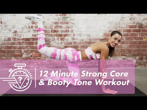 12 Minute Strong Core & Booty Tone Workout with Sami Clarke