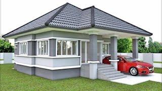 getlinkyoutube.com-แบบบ้านชั้นเดียว 3 ห้องนอน 2 จอดรถยนต์ 1 คัน