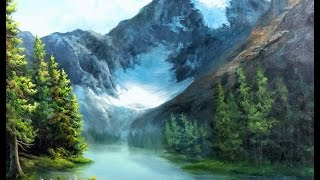 getlinkyoutube.com-Paint with Kevin Hill - Canadian Glacier