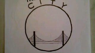 getlinkyoutube.com-How To Draw The Golden State Warriors Easiest Logo The City Gate Bridge NBA Finals