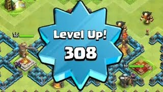 getlinkyoutube.com-10,000 XP in 1 Hour, Level 308 (Highest Level), Journey to Level 310 - Clash of Clans
