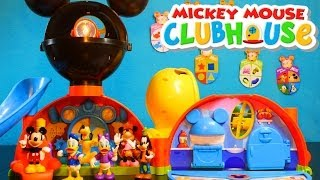 getlinkyoutube.com-Mickey Mouse Clubhouse Playset from the Disney Store Jeu du Pavillon La Casa de Mickey Mouse!