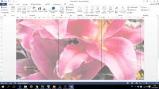 วิธีการทำแผ่นพับโดยใช้โปรแกรม Microsoft  Word 2013