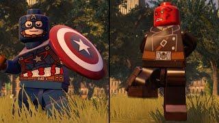 LEGO Marvel's Avengers - Captain America vs Red Skull - CoOp Fight | Free Roam Gameplay (PC HD)