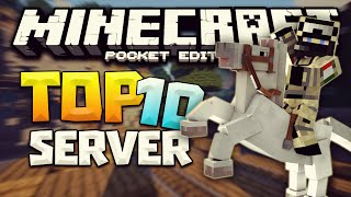 getlinkyoutube.com-TOP 10 SERVERS PARA MINECRAFT PE 0.17.0-Egg Wars, Spleef, Build Battle, Skywars ,TNT Run