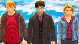 getlinkyoutube.com-GTA 5 MODS - HARRY POTTER Character Package - Harry Potter, Ron Weasley, Hermione Granger